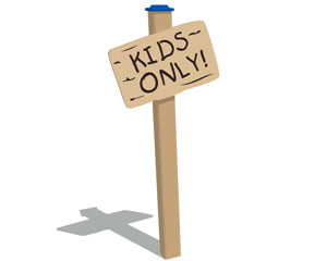 Kids Only Wood Plank Sign
