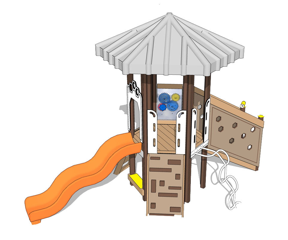 Mole Hill creamsicle | Play Mart Playground Equipment