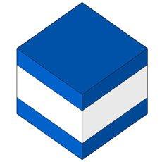 BLUE -WHITE - BLUE