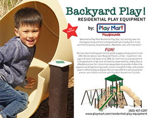 Play Mart Residential Play Sets Brochure