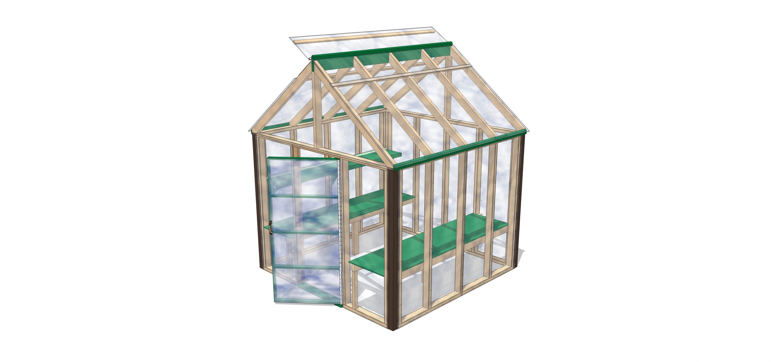 1 8X8 NEW GREENHOUSE - MAIN MODEL